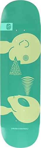 Alien Workshop Skateboard - Alien Workshop Mind Control Large Teal / White Skateboard Deck - 8.5