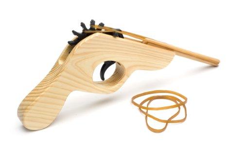 Westminister PL7920 Wooden Elastic Band Shooter Gun