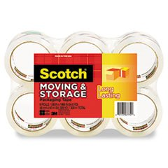 Moving & Storage Tape, 1.88 x 54.6 yards, 3 Core, Clear, 6 Rolls/Pac