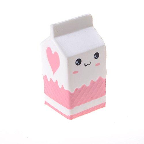 Price comparison product image Dengguoli Cute Kawaii Squishy Milk Box Toys PU Slow Rising Scented Cartoon Bread Pillow Stress Relief Pressure Press