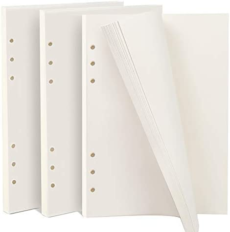 teenitor 3Pack A5, blanko, nachfüllbar Filler Papier, 21x 14,2cm Binder Planer Refills Papier, 6Loch fügt 135Blatt/270Seiten für Fotoalben Zeitschriften Gemälde Tägliche Planer DIY Projekte