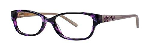 VERA WANG Eyeglasses MAGNIFIQUE Wine Tortoise 50MM