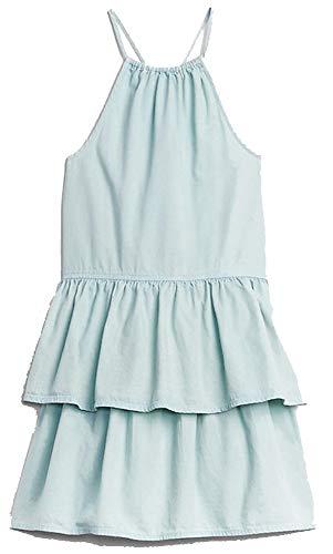 GAP Kids Blue Chambray Denim Halter Tier Dress Medium 8