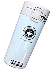 كوب قهوة حراري من الستانليس ستيل لحفظ الماء الساخن والمشروبات، تصميم محمول ومناسب للسفر بسعة 380 مل
