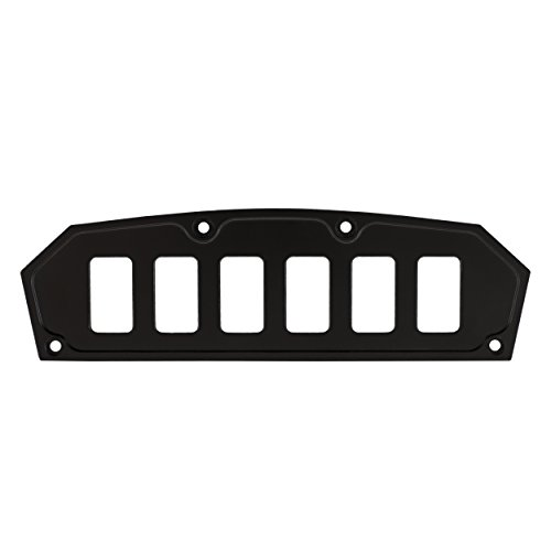 STV Motorsports Custom Switch Dash Panel for Can Am Maverick (no switches included) (6, Black) by STVMotorsports