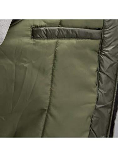 Uomo giacca Stagione Colorblock Who Giacche Shot Oliva Ya Mezza nEfCIqf