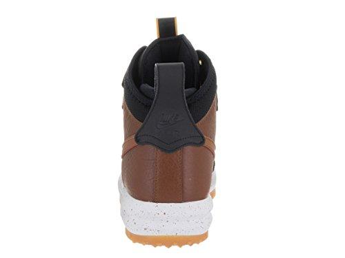 NIKE Mens Lunar Force 1 Duckboot Black/Light British Tan Leather