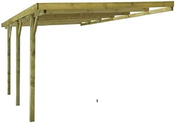 MADEIRA-Carport de madera de pino 1 coche: Amazon.es: Jardín