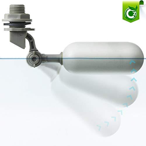 PVC Mini Float Valve with Adjustable Arm • 1/4″ RO Reverse Osmosis Supply Line for Ponds • Aquariums • Aquaponics • Aquaculture • Hydroponics Tank Reservoir by Cz Garden (1 Pack Cz Mini Float Valve)