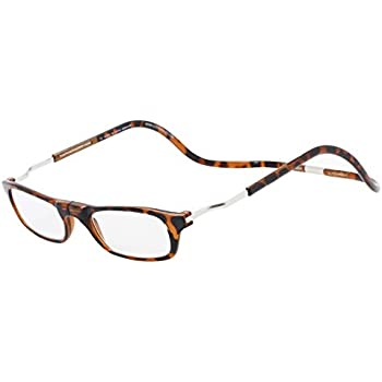dfdcc1cbae87 CliC Magnetic Closure Reading Glasses XXL with Adjustable Headband Tortoise  1.50