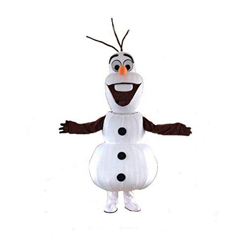 Olaf Snowman Mascot Costume Olaf mascot Cospaly Character Adult
