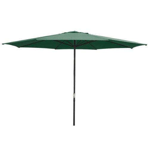 Oversized Green 13 Feet Diameter Round Outdoor Patio Umbrella w/ Pulley Steel Pole 9 1/10' Height UV Block Waterproof (Pulley Umbrella Market 4 Round)