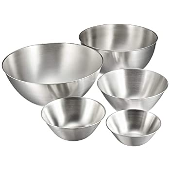 Image of Sori Yanagi stainless bowl 5 pcs Home and Kitchen