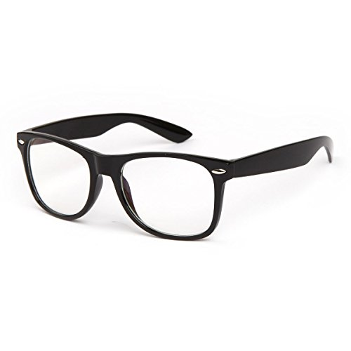 Blue Light Blocking Computer Glasses for Anti Eye Strain UV Transparent Lens Computer Reading Glasses Anti Blue Rays Anti Glare and Anti - Glasses Nerdy Reading
