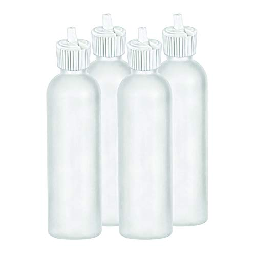 (MoYo Natural Labs 8 oz Squirt Bottles, Squeezable Empty Travel Containers, Toggle Spout BPA Free HDPE Plastic Essential Oils Liquids, Toiletry/Cosmetic Bottles (Pack of 4, Translucent White))