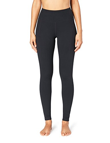 Amazon Brand - Core 10 Women's 'Build Your Own' Yoga Pant - High Waist Full-Length Legging, M, Black