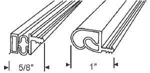 Beige Magnetic Weatherstrip for Steel Doors - 6 Sets