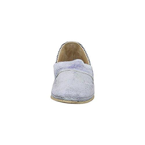 Charme 2864-17e4 - Mocasines de Piel para mujer Azul