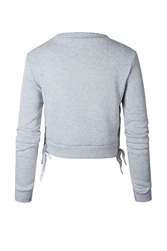 Taille Gris Automne Pour Printemps Zhrui Rose Grand Hommes Sweatshirts Manches Longues à Couleur xARq7PFw