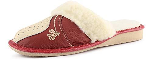 Donna k Bianco Lano011 4019 Pantofole rosso Ladeheid 40wR5R