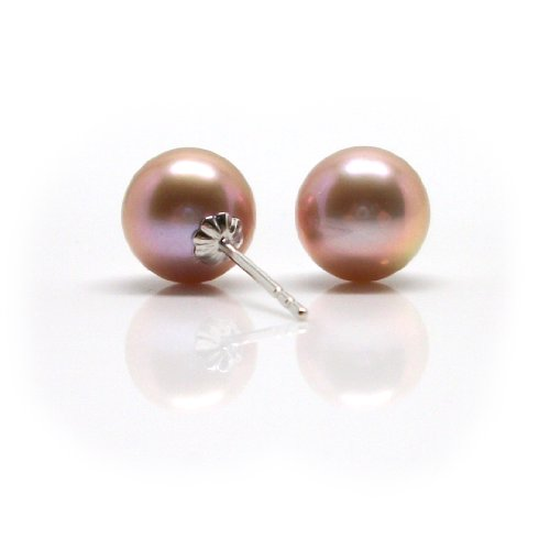 HinsonGayle AAA GEM 8.5-9mm Pink Round Freshwater Cultured