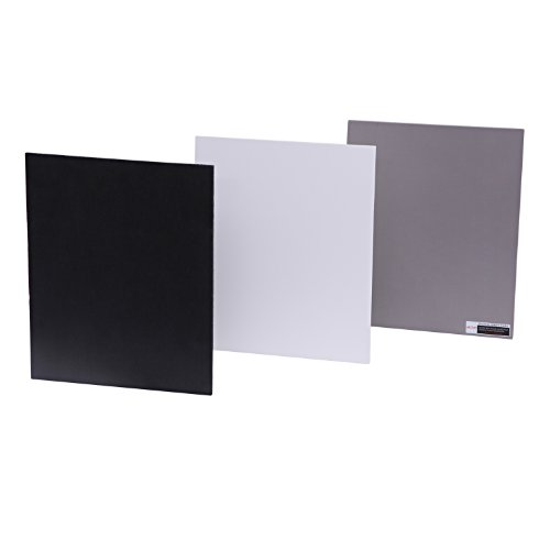 Grey Card Set - Movo Photo Color/White Balance Card Set for Digital Photography (Full-sized, 8 X 10