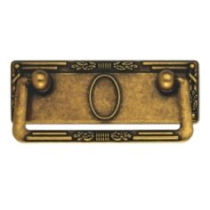 Furniture Cabinet Joint Handle with Plate Classic Antique Brass 3.82