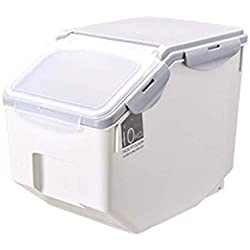 Jlxl Food Container,Animal Feed Pet Food Cat Wet Food Bin Feeder Dry Food Storage Container Airtight Storage Box Moveable
