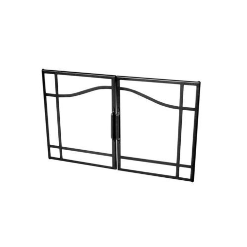 Dimplex BFSDOOR33BLK 33-Inch Glass Swing Doors for Built-In Electric Firebox (33 Inch Built In Electric Fireplace)