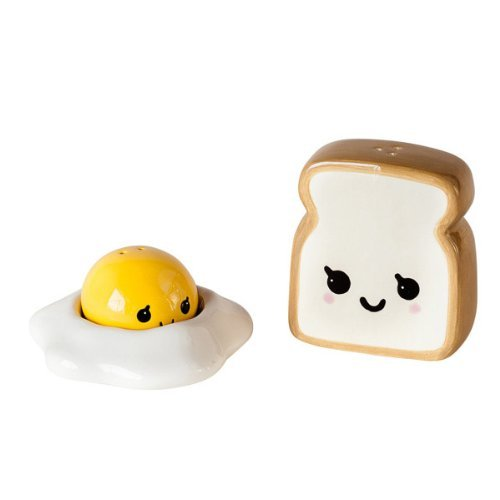 Ceramic Egg and Toast Salt and Pepper Shakers in Gift Box 180 Degrees JC0010