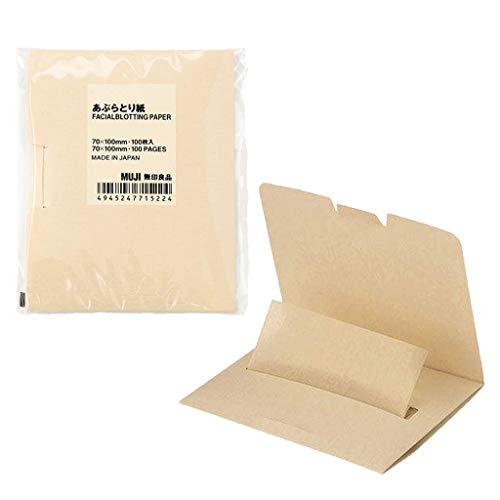 MUJI Oil Control Blotting Paper, 100 sheets, 2 (Best Muji Blotting Papers)