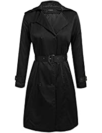 b9a378a3fc798 Women s Plus Size Trench Coat Double Breasted Long Trench Coats with Belt