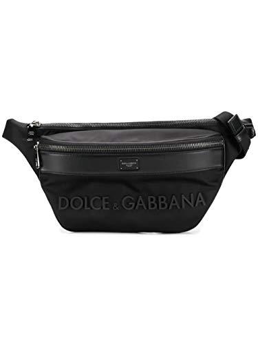 Dolce E Gabbana Men's Bm1660az6758b956 Black Leather Travel Bag