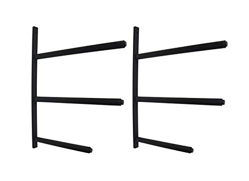 Mrhardware SUP Snowboard Surfboard Paddle Board Ski Wall Mount Storage Display Rack Cradle (Black, 3 Boards) ()