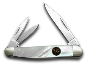 HEN & ROOSTER AND Mother of Pearl Whittler Pocket Knife (Whittler Pearl)