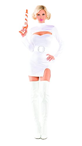 Party King Women's Interstellar Princess Sexy Costume Set, White, Large (Womens Princess Sexy Costume)