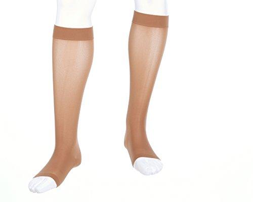 medi Assure, 20-30 mmHg, Calf High Compression Stockings, Open Toe ()