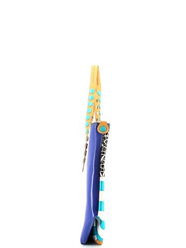 GABS Gabsille, Borsa con Maniglia Donna Stamp Astratto Azzurro
