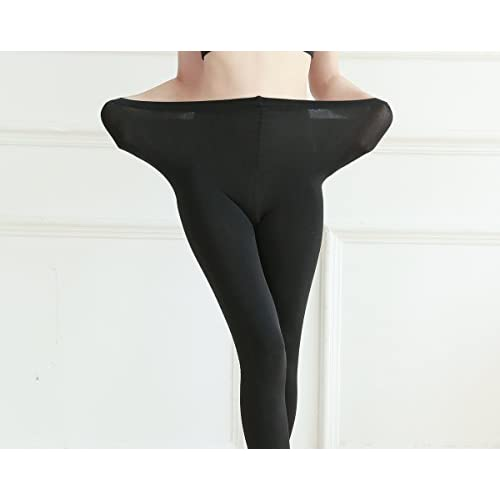 2 Pairs Women Winter Thick Warm Fleece Lined Thermal Stretchy Pantyhose Tights