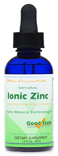 Good State | Natural Ionic Zinc | Liquid Concentrate | Nano Sized Mineral Technology | Professional Grade Dietary Supplement | Improves Immune System & Fights Infections | 1.6 Fl oz Bottle (50 mL)