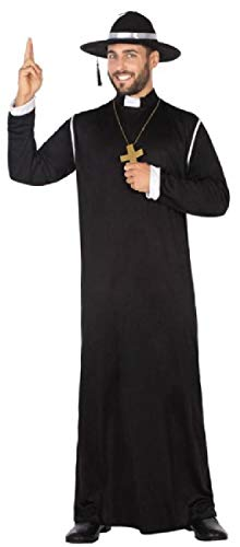 Mens Traditional Black Priest Religious Holy Father
