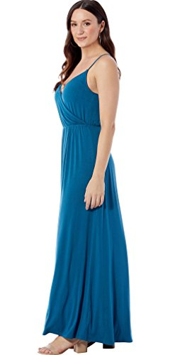 Wrap Dress Faux Corsair Long Rohb Blue Garden by Joyce Maxi Azria District acCFq1H