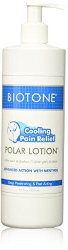 Biotone Polar Lotion Massage Lotion, 16 Ounce (Pain Relief 16 Oz Pump)
