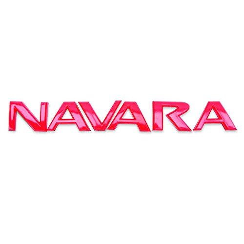 Powerwarauto Logo Badge Emblem NAVARA Red For Nissan Navara D40 2, 4 Door 2006-2013