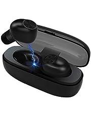 Auriculares Bluetooth, LXT Auriculares Inalámbricos 5,0 de fácil emparejamiento Mini Auriculares Bluetooth en la Oreja a Prueba de Sudor Deportes audífonos con micrófono, Total 20 Horas Jugar