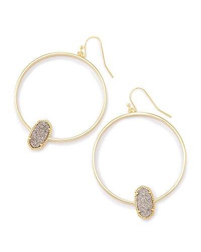Kendra Scott Elora Hoop Earrings (Gold/Platinum Drusy)