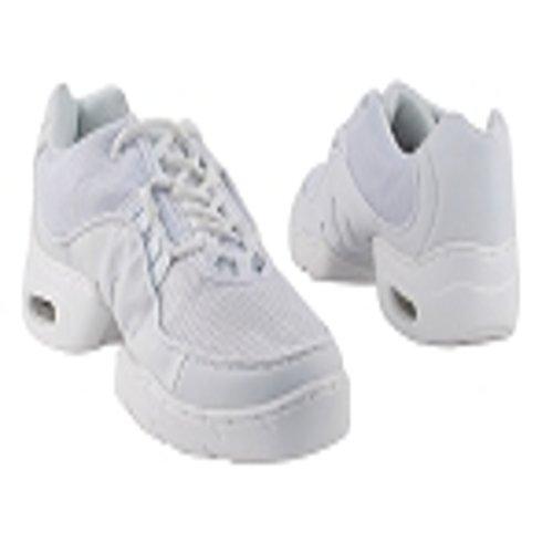 Sneakers Unisex Di Danza Bianca Molto Raffinata Con Suola In Gomma Levigata E Punto Dolce Per Una Facile Rotazione (13,5)
