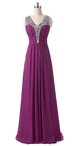 Elegant Purple Abendkleider Cocktail Brautjungfernkleider Ballkleider Lang Pailetten besetzte Bainjinbai Damen qXnxC6wznE