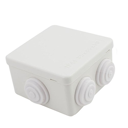 Awclub ABS Plastic Dustproof Waterproof IP44 Junction Box Universal Electrical Project Enclosure White 3.4