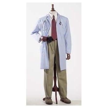 Medline 83044QHWS Unisex Knee Length Lab Coat SM